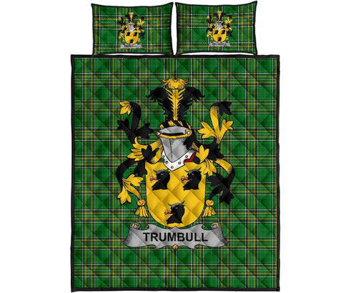 Trumbull or Turnbull Ireland Quilt Bed Set Irish National Tartan | Over 1400 Crests | Home Set | Bedding Set