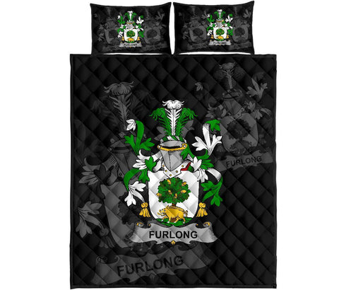 Irish Quilt Bed Set, Furlong Family Crest Premium Quilt And Pillow Cover A7