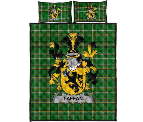 Laffan Ireland Quilt Bed Set Irish National Tartan | Over 1400 Crests | Home Set | Bedding Set