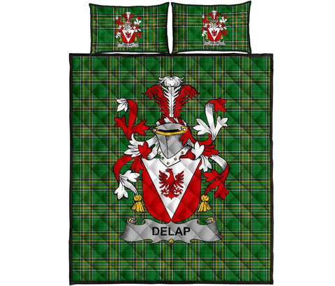 Delap Ireland Quilt Bed Set Irish National Tartan | Over 1400 Crests | Home Set | Bedding Set