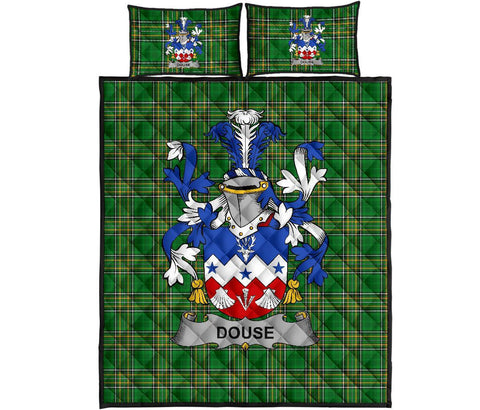 Douse or Dowse Ireland Quilt Bed Set Irish National Tartan | Over 1400 Crests | Home Set | Bedding Set