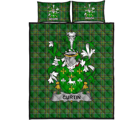 Curtin or McCurtin Ireland Quilt Bed Set Irish National Tartan | Over 1400 Crests | Home Set | Bedding Set
