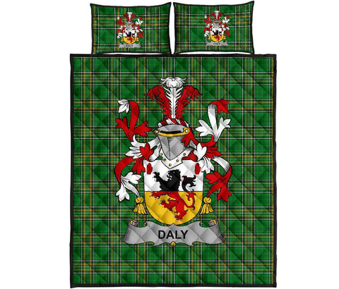 Daly or O'Daly Ireland Quilt Bed Set Irish National Tartan | Over 1400 Crests | Home Set | Bedding Set