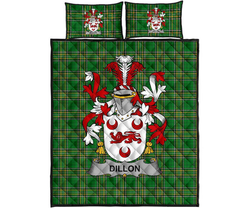 Dillon Ireland Quilt Bed Set Irish National Tartan | Over 1400 Crests | Home Set | Bedding Set