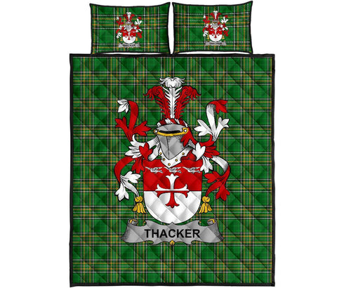 Thacker Ireland Quilt Bed Set Irish National Tartan | Over 1400 Crests | Home Set | Bedding Set