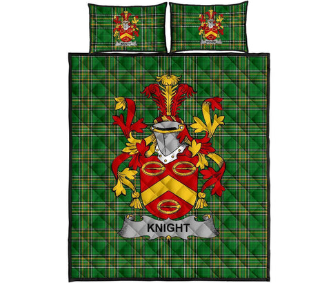Knight Ireland Quilt Bed Set Irish National Tartan | Over 1400 Crests | Home Set | Bedding Set