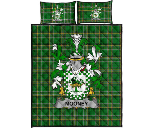 Mooney or O'Mooney Ireland Quilt Bed Set Irish National Tartan | Over 1400 Crests | Home Set | Bedding Set