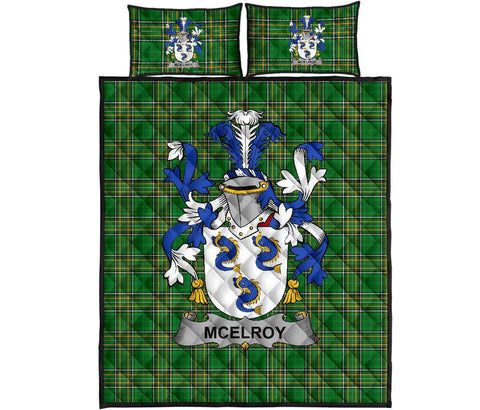 Image of McElroy or Gilroy Ireland Quilt Bed Set Irish National Tartan | Over 1400 Crests | Home Set | Bedding Set