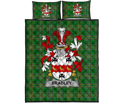 Bradley Ireland Quilt Bed Set Irish National Tartan | Over 1400 Crests | Home Set | Bedding Set