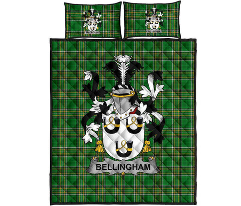 Image of Bellingham Ireland Quilt Bed Set Irish National Tartan | Over 1400 Crests | Home Set | Bedding Set