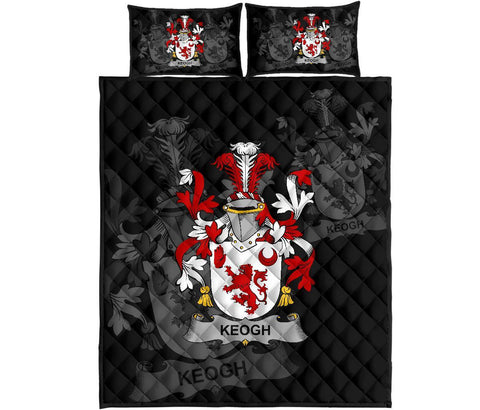 Irish Quilt Bed Set, Keogh or McKeogh Family Crest Premium Quilt And Pillow Cover A7