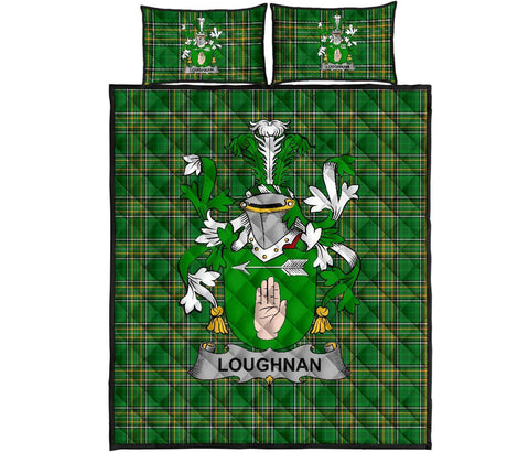 Loughnan or O'Loughnan Ireland Quilt Bed Set Irish National Tartan | Over 1400 Crests | Home Set | Bedding Set