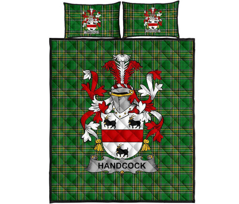 Handcock Ireland Quilt Bed Set Irish National Tartan | Over 1400 Crests | Home Set | Bedding Set