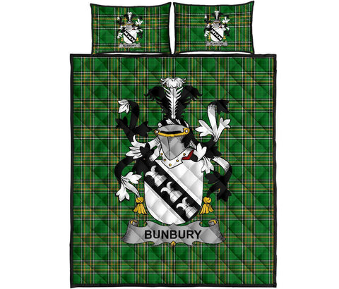 Bunbury Ireland Quilt Bed Set Irish National Tartan | Over 1400 Crests | Home Set | Bedding Set
