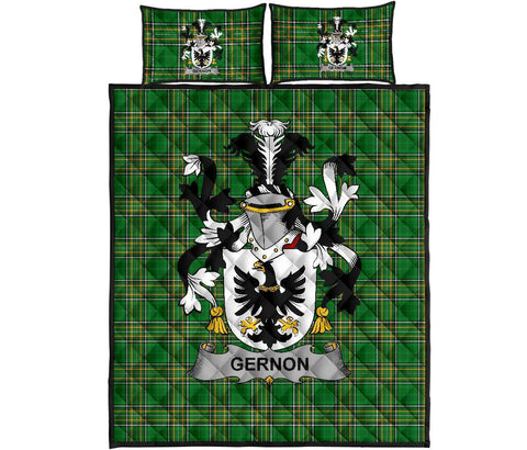 Gernon or Garland Ireland Quilt Bed Set Irish National Tartan | Over 1400 Crests | Home Set | Bedding Set