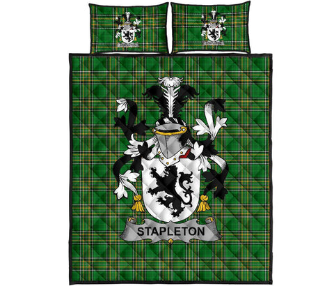 Stapleton Ireland Quilt Bed Set Irish National Tartan | Over 1400 Crests | Home Set | Bedding Set