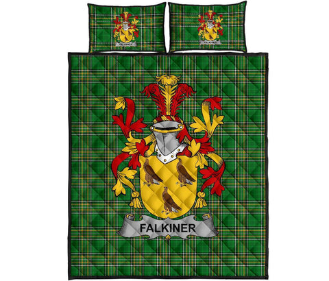 Falkiner Ireland Quilt Bed Set Irish National Tartan | Over 1400 Crests | Home Set | Bedding Set