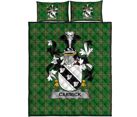 Carmick Ireland Quilt Bed Set Irish National Tartan | Over 1400 Crests | Home Set | Bedding Set