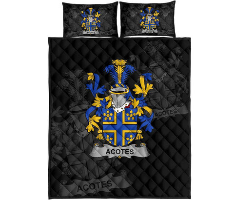 Irish Quilt Bed Set, Acotes Family Crest Premium Quilt And Pillow Cover A7