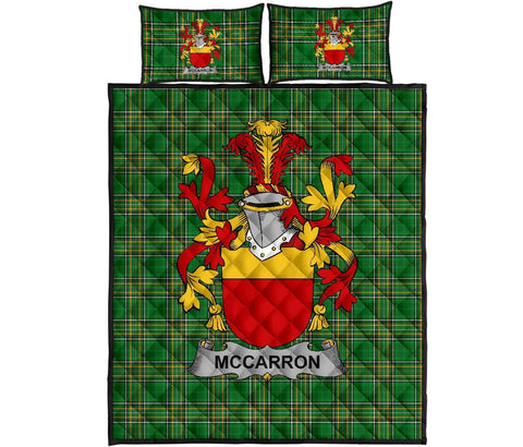 McCarron Ireland Quilt Bed Set Irish National Tartan | Over 1400 Crests | Home Set | Bedding Set