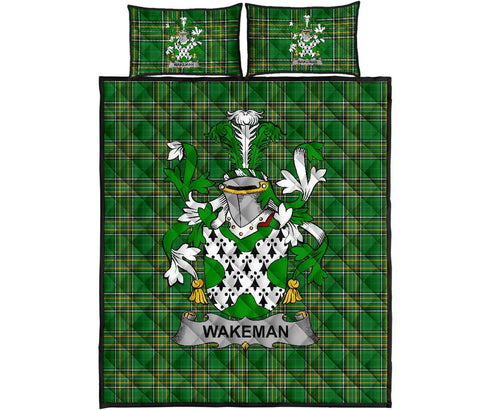 Wakeman Ireland Quilt Bed Set Irish National Tartan | Over 1400 Crests | Home Set | Bedding Set