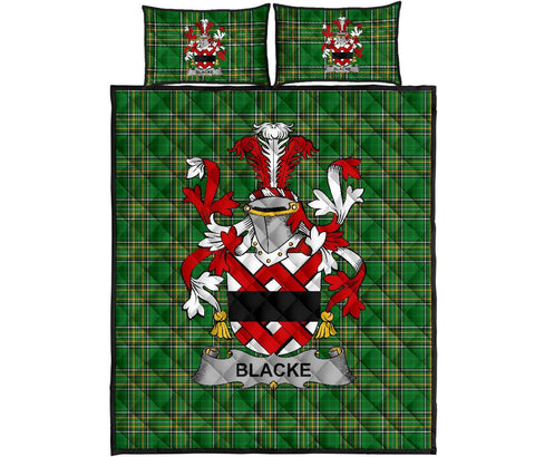 Image of Blacke Ireland Quilt Bed Set Irish National Tartan | Over 1400 Crests | Home Set | Bedding Set
