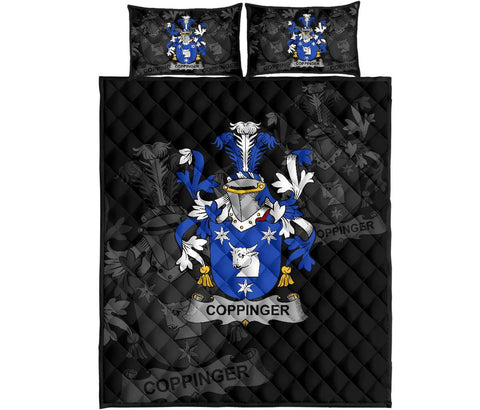 Irish Quilt Bed Set, Coppinger Family Crest Premium Quilt And Pillow Cover A7