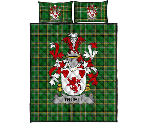 Truell Ireland Quilt Bed Set Irish National Tartan | Over 1400 Crests | Home Set | Bedding Set