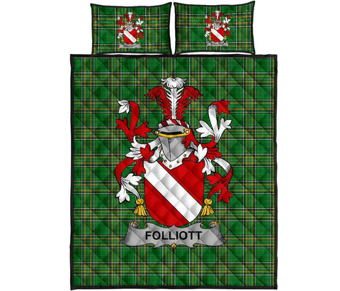Folliott Ireland Quilt Bed Set Irish National Tartan | Over 1400 Crests | Home Set | Bedding Set