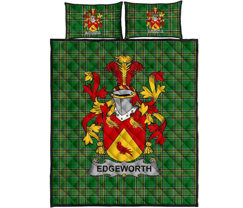 Edgeworth Ireland Quilt Bed Set Irish National Tartan | Over 1400 Crests | Home Set | Bedding Set