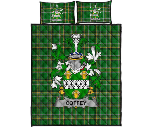 Image of Coffey or O'Coffey Ireland Quilt Bed Set Irish National Tartan | Over 1400 Crests | Home Set | Bedding Set