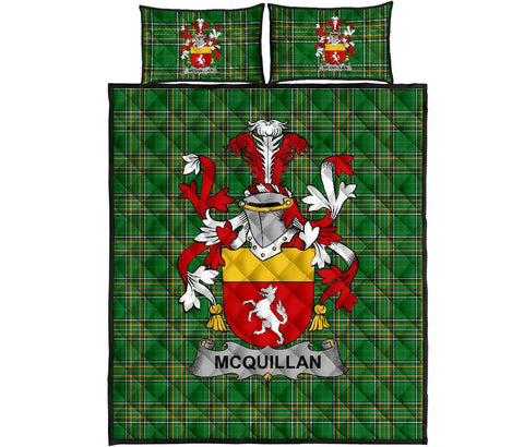Quillan or McQuillan Ireland Quilt Bed Set Irish National Tartan | Over 1400 Crests | Home Set | Bedding Set