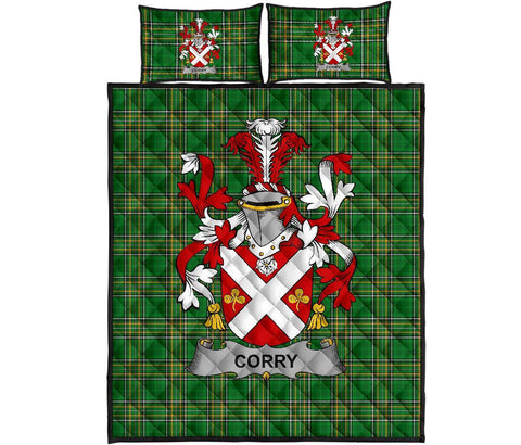 Corry or O'Corry Ireland Quilt Bed Set Irish National Tartan | Over 1400 Crests | Home Set | Bedding Set