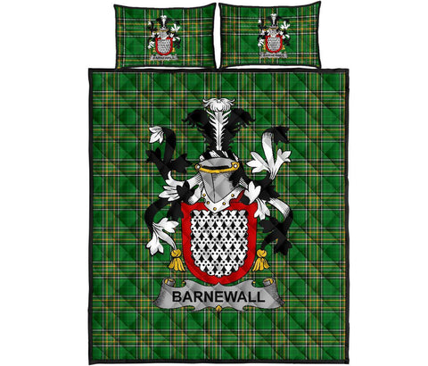 Barnewall Ireland Quilt Bed Set Irish National Tartan | Over 1400 Crests | Home Set | Bedding Set