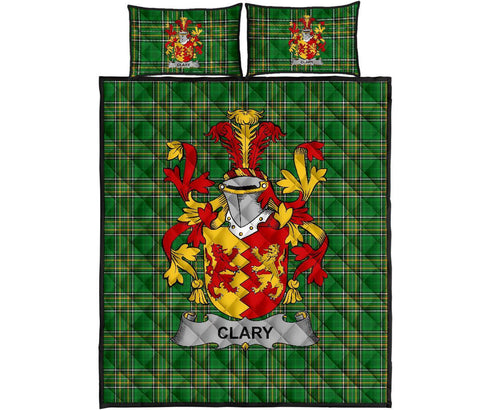 Clary or O'Clary. Ireland Quilt Bed Set Irish National Tartan | Over 1400 Crests | Home Set | Bedding Set