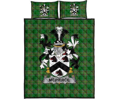McPierce or Pierce Ireland Quilt Bed Set Irish National Tartan | Over 1400 Crests | Home Set | Bedding Set