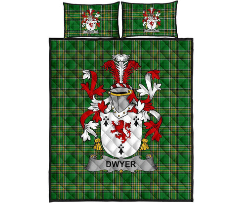 Dwyer or O'Dwyer Ireland Quilt Bed Set Irish National Tartan | Over 1400 Crests | Home Set | Bedding Set