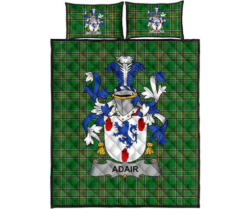 Adair Ireland Quilt Bed Set Irish National Tartan | Over 1400 Crests | Home Set | Bedding Set