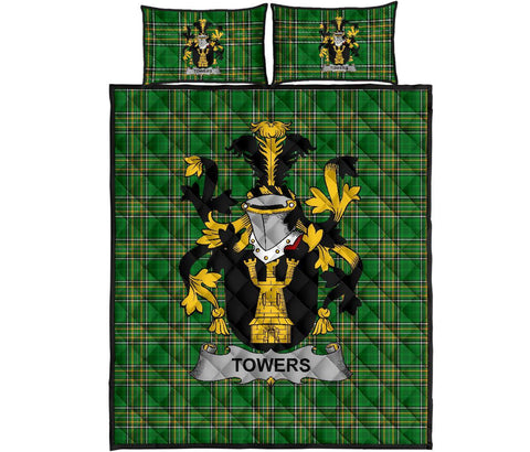 Towers Ireland Quilt Bed Set Irish National Tartan | Over 1400 Crests | Home Set | Bedding Set