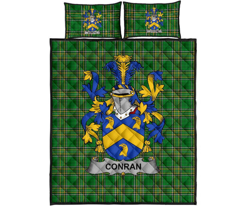 Conran or O'Condron Ireland Quilt Bed Set Irish National Tartan | Over 1400 Crests | Home Set | Bedding Set
