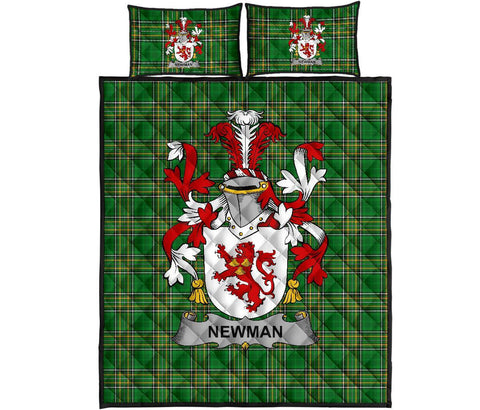 Newman Ireland Quilt Bed Set Irish National Tartan | Over 1400 Crests | Home Set | Bedding Set