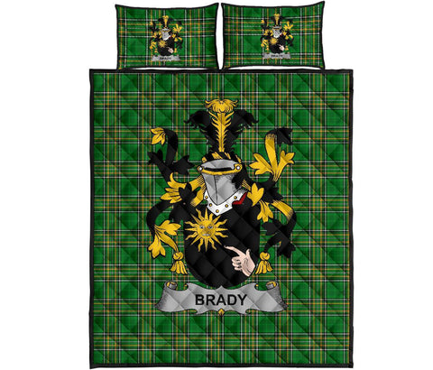 Brady or McBrady Ireland Quilt Bed Set Irish National Tartan | Over 1400 Crests | Home Set | Bedding Set
