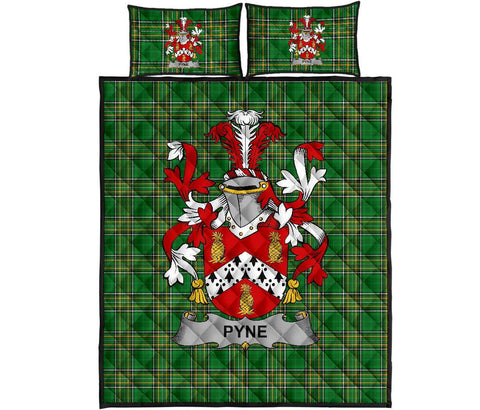 Pyne Ireland Quilt Bed Set Irish National Tartan | Over 1400 Crests | Home Set | Bedding Set