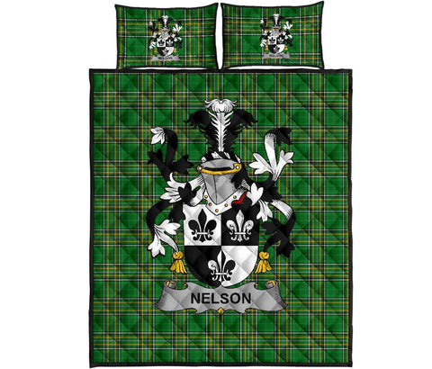 Nelson or Nealson Ireland Quilt Bed Set Irish National Tartan | Over 1400 Crests | Home Set | Bedding Set