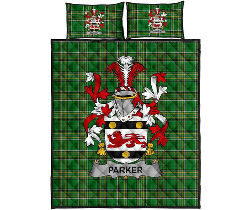 Parker Ireland Quilt Bed Set Irish National Tartan | Over 1400 Crests | Home Set | Bedding Set