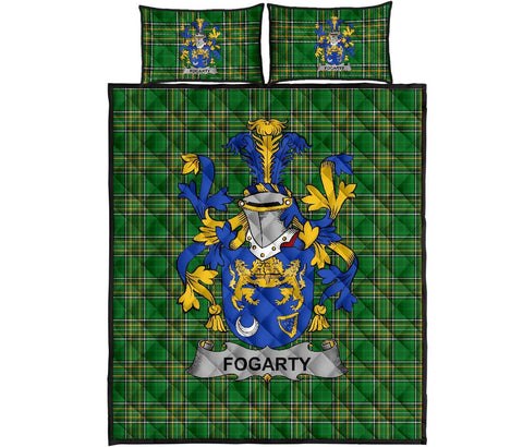 Fogarty or O'Fogarty Ireland Quilt Bed Set Irish National Tartan | Over 1400 Crests | Home Set | Bedding Set