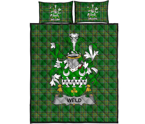 Weld Ireland Quilt Bed Set Irish National Tartan | Over 1400 Crests | Home Set | Bedding Set