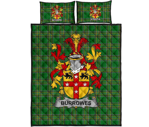 Burrowes Ireland Quilt Bed Set Irish National Tartan | Over 1400 Crests | Home Set | Bedding Set
