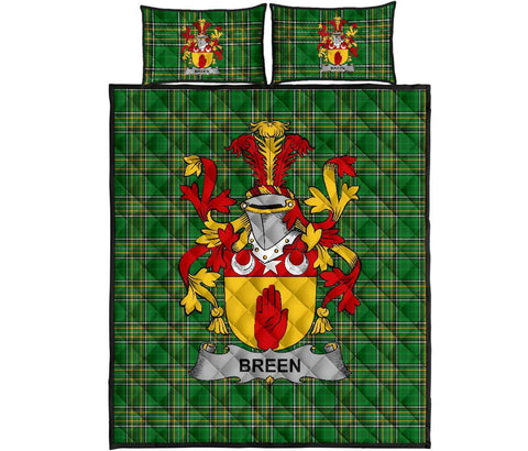 Breen or O'Breen Ireland Quilt Bed Set Irish National Tartan | Over 1400 Crests | Home Set | Bedding Set