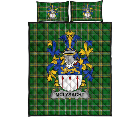 McLysacht or Lysacht Ireland Quilt Bed Set Irish National Tartan | Over 1400 Crests | Home Set | Bedding Set